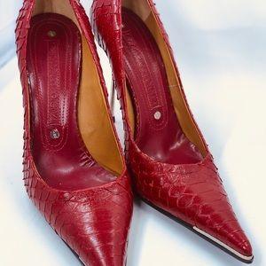 Rare Gianmarco Lorenzi Python Leather Stiletto.